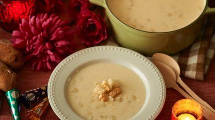 Soep van bloemkool en cheddar